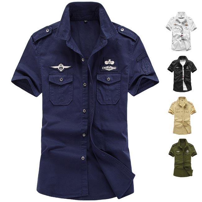 お買い得 半袖 大規模セール MA-1シャツ ワッペン ミリタリーシャツ MA1シャツ メンズ 半袖シャツ 夏新作 アメリカン フライトシャツ カジュアル