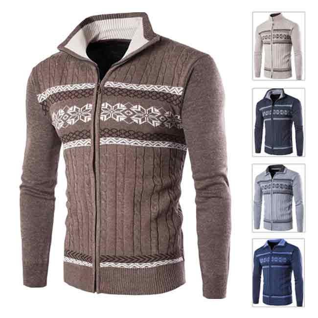 メンズ カーディガン ニットセーター ボーダー 低価格化 春ジャケット 防寒着 あったか 初回限定 大きいサイズ