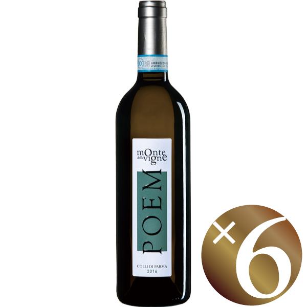 【ポイント2倍(16日2時まで)】【まとめ買い】ポエム ビアンコ/モンテ・デッレ・ヴィーニェ (白ワイン)750ml×6本