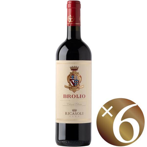 ブローリオ キャンティ クラッシコ/バローネ・リカーゾリ 750ml×6本 (赤ワイン)
