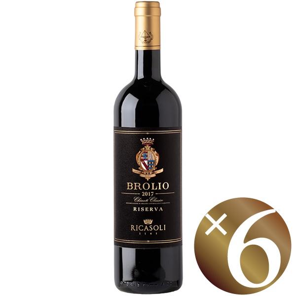 ブローリオ キャンティ・クラッシコ・リゼルヴァ/バローネ・リカーゾリ 750ml×6本 (赤ワイン)