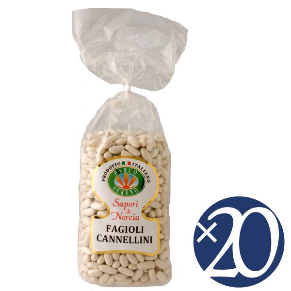 【送料無料】【ケース買い】カンネッリーニ(白インゲン豆/小粒)/カステッルッチョ協同組合 500g×20袋 (豆類)