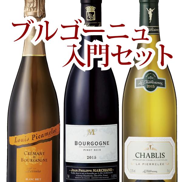 【赤白ミックスセット】 ブルゴーニュを代表する泡・赤・白の3本セット!ブルゴーニュワインの魅力がたっぷり詰まった《ブルゴーニュ入門セット》! 750ml×3本