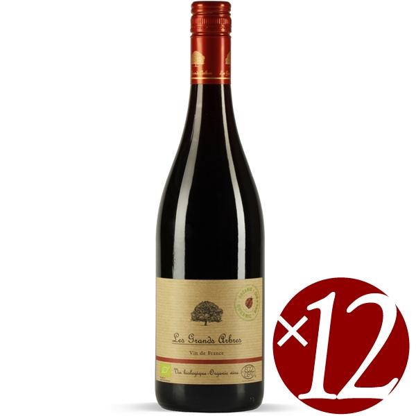 【まとめ買い】レ・グランザルブル オーガニック ルージュ/バデ・クレモン (赤ワイン)750ml×12本