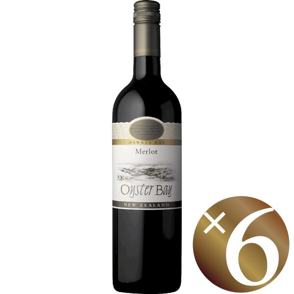 【まとめ買い】オイスターベイ ホークスベイ メルロー/デリゲッツ・ワイン・エステート (赤ワイン)750ml×6本