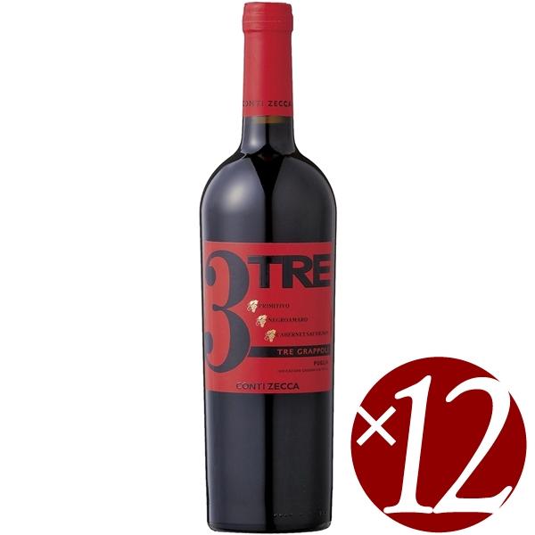 【ポイント2倍(16日2時まで)】トレ・グラッポリ コンティ・ゼッカ/コンティ・ゼッカ 750ml×12本 (赤ワイン)