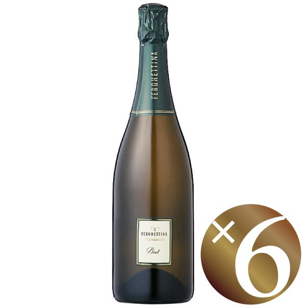 【まとめ買い】フランチャコルタ ブリュット/フェルゲッティーナ (スパークリングワイン)750ml×6本