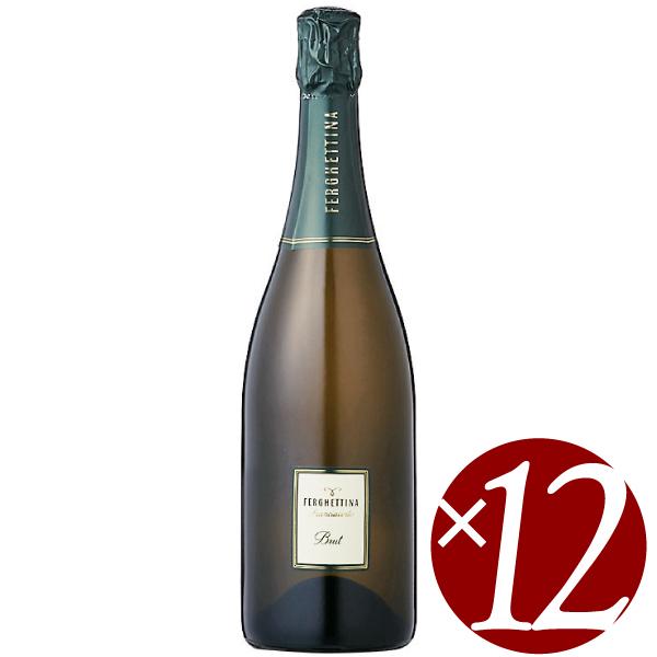 【ポイント2倍(16日2時まで)】【まとめ買い】フランチャコルタ ブリュット/フェルゲッティーナ (スパークリングワイン)750ml×12本