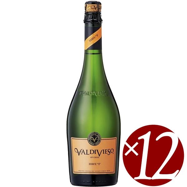 バルディビエソ ブリュット/ビーニャ・バルディビエソ 750ml×12本 (白スパークリング)【スパークリングワイン 泡 発泡酒 炭酸 微発泡 発泡性ワイン ハロウィン クリスマス 誕生日 結婚祝い パーティー】