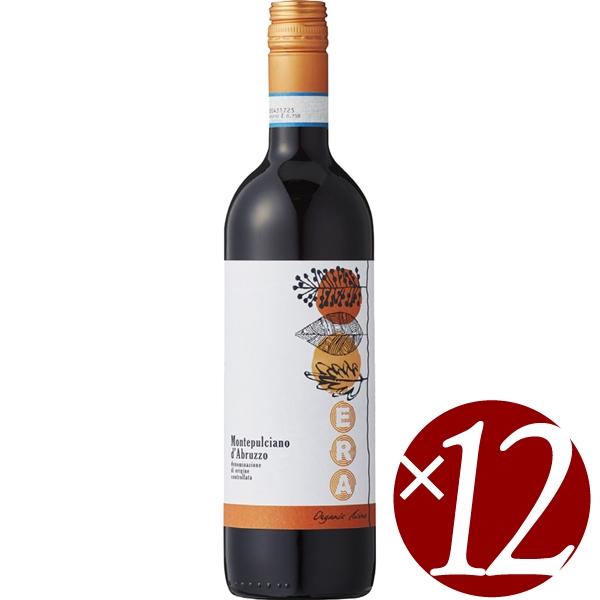 【ポイント2倍(16日2時まで)】【まとめ買い】エラ モンテプルチアーノ・ダブルッツォ オーガニック/カンティーネ・アウローラ (赤ワイン)750ml×12本