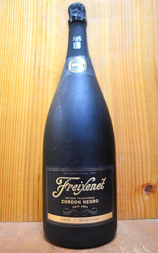 Large bottle Freycinet cordon Negro Cava Brut, Selección, extra large and  large Magnum size and quantity limited imports and traditional method