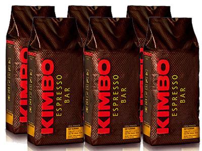 【1kg×6袋】【ケース買い特価】【1袋あたり3,467円】KIMBO(キンボ)・トップフレーバー・1kg(1,000g)×6袋