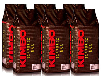 【1kg×6袋】【ケース買い特価】【1袋あたり3,117円】KIMBO(キンボ)・エスプレッソ豆・プレステージ・1kg(1000g)×6袋