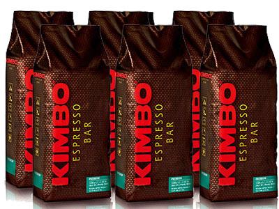 【1kg×6袋】【ケース買い特価】【1袋あたり2,883円】KIMBO(キンボ)・エスプレッソ豆・プレミアム・1kg(1000g)×6袋