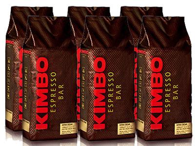【1kg×6袋】【ケース買い特価】【1袋あたり2,800円】KIMBO(キンボ)・エスプレッソ豆・エキストラクリーム・1kg(1000g)×6袋