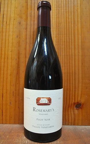 タリー ピノ ノワール ローズマリーズ ヴィンヤード アロヨ グランデ ヴァレー 2011 タリー ヴィンヤーズ 赤ワイン 750ml タリーピノノワールローズマリーズヴィンヤード アロヨグランデヴァレーギフト 贈り物 お祝い