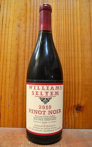 ウイリアムズ セリエム ブッシャー ヴィンヤード ピノ ノワール 2011 ソノマ カウンティ 正規 赤ワイン ワイン 辛口 フルボディ 750ml (ウイリアムズ・セリエム)Williams Selyem BUCHER VINEYARD Pinot Noir [2011] Sonoma County