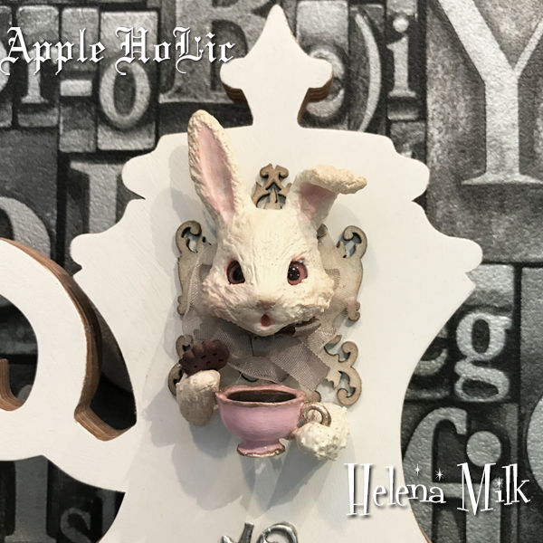 ウォールクロック【Helena Milk Clock・ヘレナ ミルク】インテリア 雑貨 うさぎ