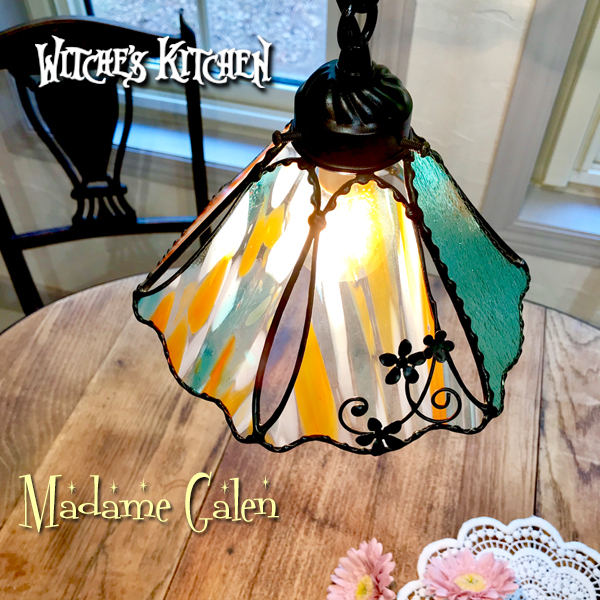 ペンダントライト 【Madame Galen・マダムガレン】 LED対応 フラワー ステンドグラス ランプ