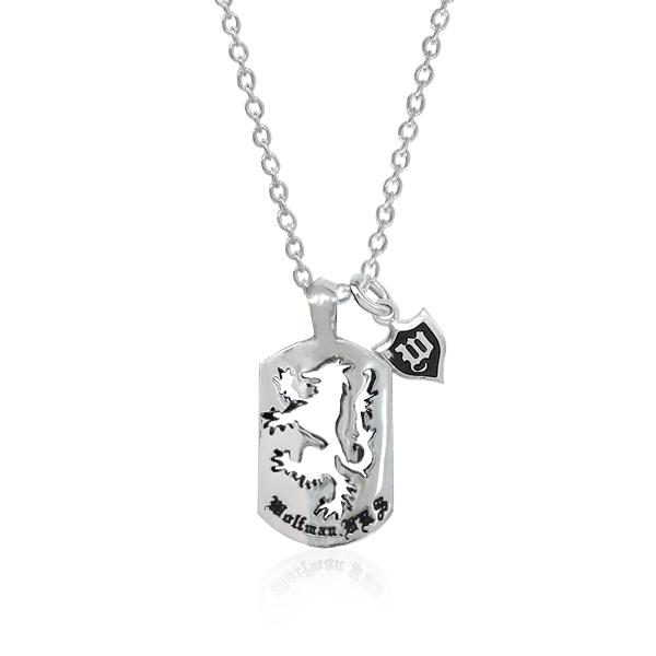 ネックレス ペンダント チェーン付き 狼 ウルフ シルバー925 ウルフマンBRSファイヤーウルフチャームドッグタグペンダント (wo-p-54) 王冠 紋章 ロゴ