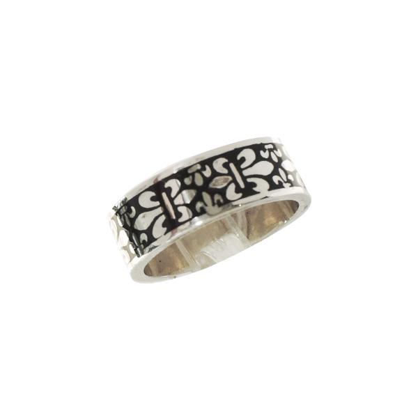 リング 指輪 狼 ウルフマンBRS シルバー925 アクセサリー メンズ ゆり 百合 フレア リリー 紋章 カラーバリエーション フレアリング