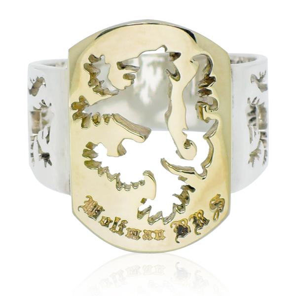 リング 指輪 狼 ウルフマンBRS シルバー925 アクセサリー メンズ ブラザーウルフ 狼 ウルフ 17号 19号 21号 23号 ファイヤーウルフリング ゴールド