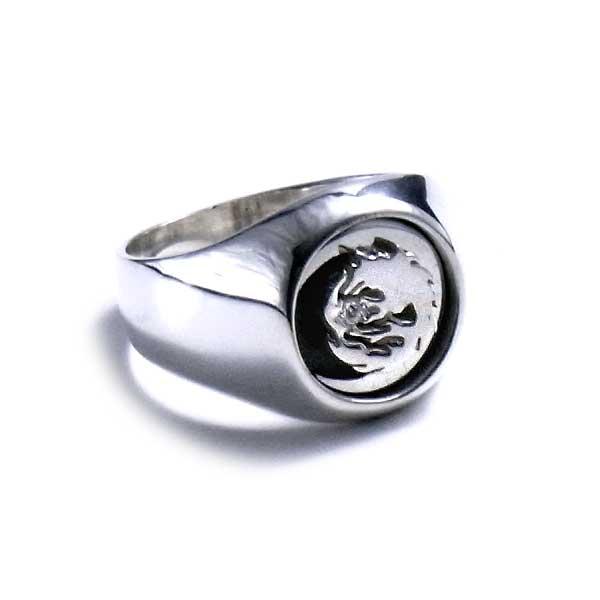 レディース ウィメンズ 女性 アクセサリー シルバー プレゼント ギフト フォーマル リング 指輪 ムーンウルフリング狼 ウルフマン ウルフマンbrs
