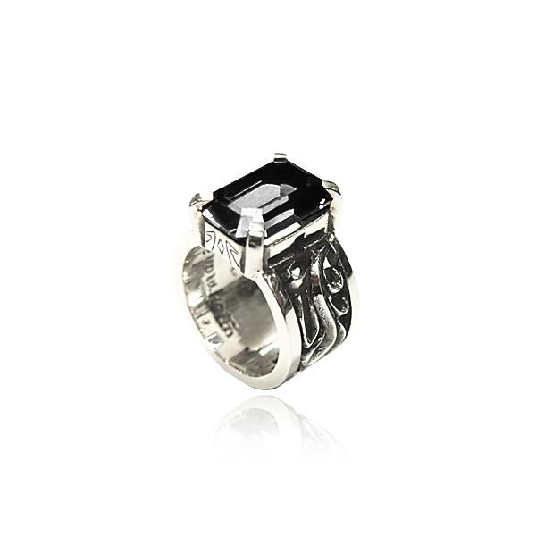 レディース ウィメンズ 女性 アクセサリー シルバー プレゼント ギフト フォーマル リング 指輪 パルメットウルフリング ダブル オニキス狼 ウルフマン ウルフマンbrs