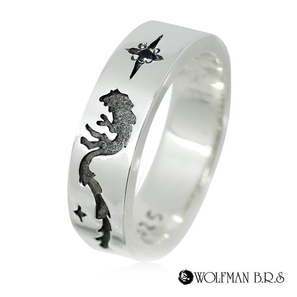 ウルフマンブラザーズ シルバーアクセサリー シルバー925 ウルフマンbrs ウルフ WOLFMAN B.R.S 指輪/ リング/ wolfmanbrs シルバー ゴールド フレアスタンプリングG狼