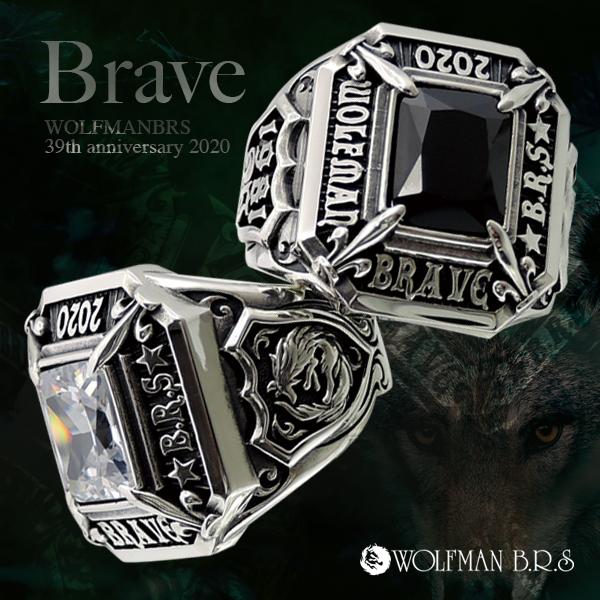 リング 指輪 狼 ウルフマンBRS シルバー925 アクセサリー メンズ カレッジリング 記念 ブレイブ ブラックキュービックジルコニア いかつい15号 17号 19号 21号 23号カレッジリング 2020 BRAVE