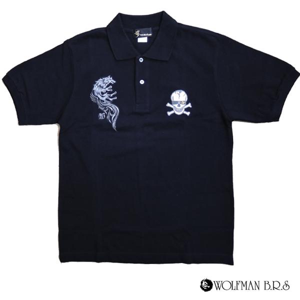 T-KEIGO ポロシャツ 半袖狼 ウルフマン ウルフマンbrs