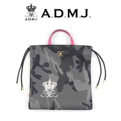ADMJ エーディーエムジェイ カモフラージュ柄フラットバッグ 18WS01015