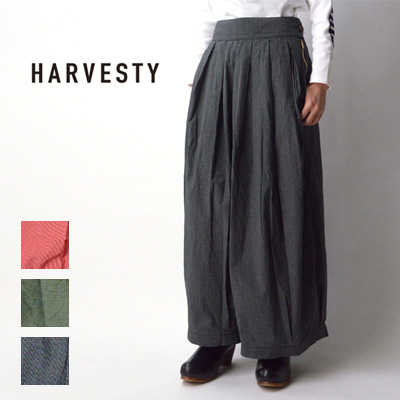 HARVESTY (ハーベスティ)チェック サーカスキュロット A21902【大感謝祭】【キャッシュレス還元対象】