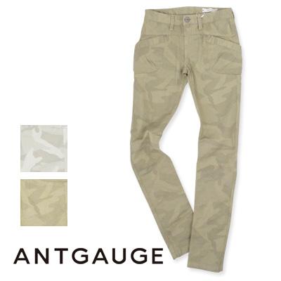 antgauge(アントゲージ)  ストレッチピケウッドランドカモ柄カーゴスキニー C1376