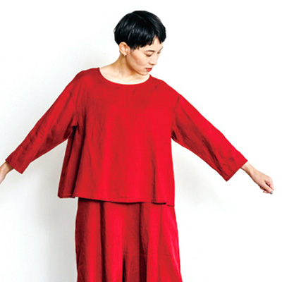 fog linen work フォグリネンワーク NEIVE TOP MOROCCO RED ニーヴ トップ モロッコ レッド LWA168-1740