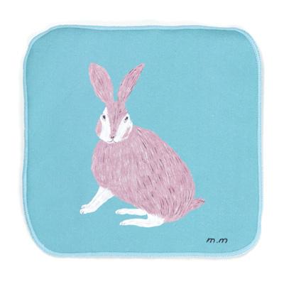 日本限定 割引も実施中 松尾ミユキさんが描くイラストが可愛いらしいタオルハンカチ 裏面は吸水性が高いマイクロファイバー素材を使用 松尾ミユキ Hand cloth Rabbit ラビット ハンドクロス MM552