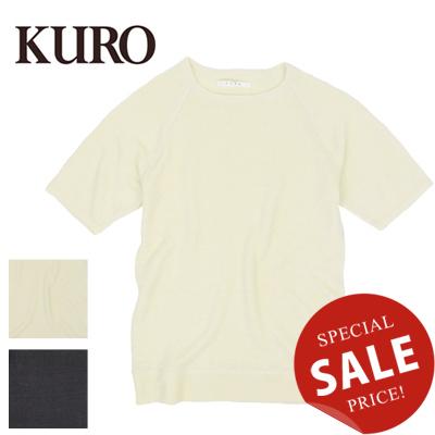 クロ KURO リネンニット半袖TシャツLINEN KNIT S/S TEE 961663