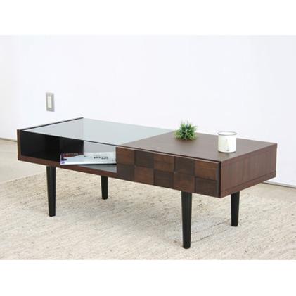 センターテーブル 幅110cm ブラウン 茶 スタイリッシュ 国産品 日本製 ローテーブル リビングテーブル コーヒーテーブル りびんぐてーぶる カフェテーブル