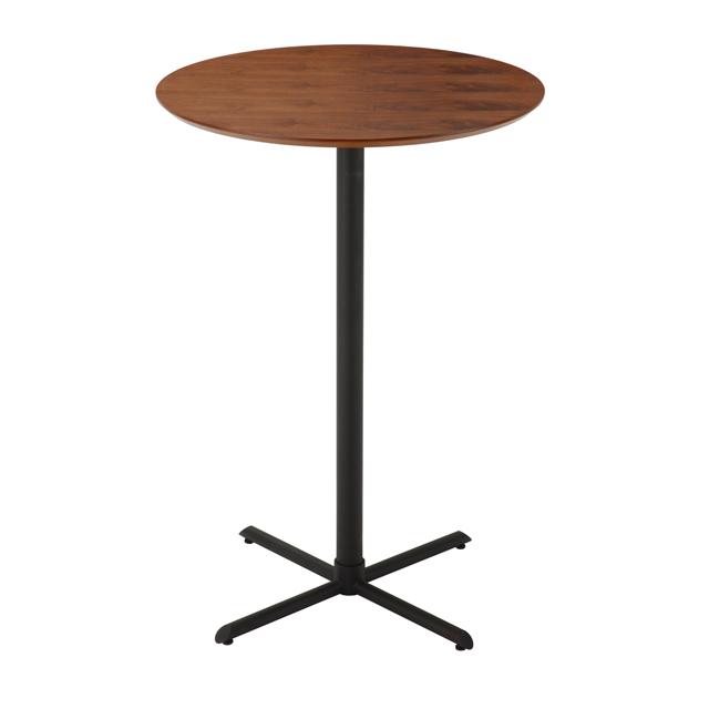 カウンターテーブル 幅70cm ブラウン 木製 モダン風 バーテーブル カフェテーブル ハイタイプテーブル てーぶる
