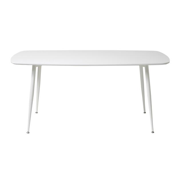 ダイニングテーブル 幅160cm ホワイト 白 木製 モダン風 4人用ダイニングテーブル 四人用ダイニングテーブル 4人掛けダイニングテーブル 食堂テーブル 食卓テーブル カフェテーブル