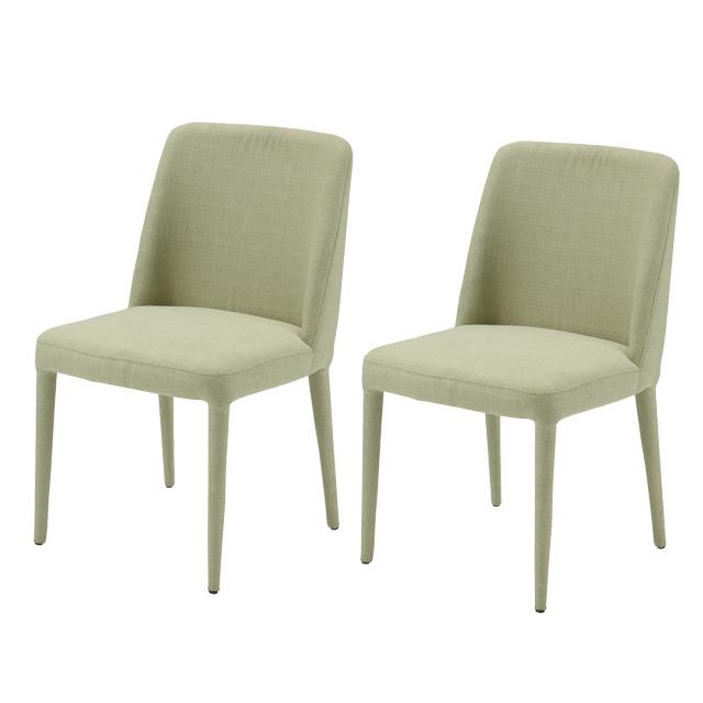 ダイニングチェアー 2脚セット モスグリーン 布張り製 北欧風 食堂椅子 食堂チェアー 食卓チェアー 食卓椅子 カウンターチェアー いす イス カフェチェアー