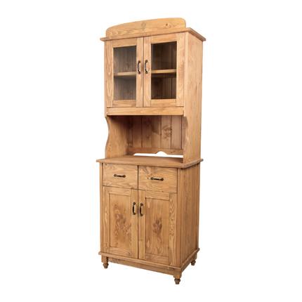 食器棚 幅65cm ナチュラル 木製 カントリー風 ダイニングボード キッチンボード 食器収納家具 キッチン収納棚 キッチンキャビネット 水屋 カップボード 食器収納棚
