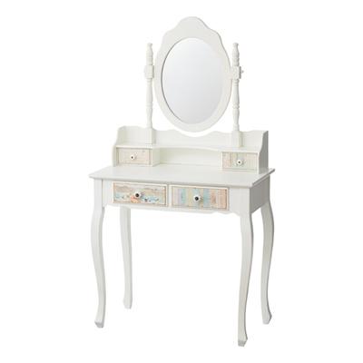 ドレッサー 化粧台 鏡台 どれっさー 木製  アンティークデザイン