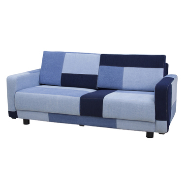 2人掛けソファー ブルー 青 布張り製 モダン風 2人用ソファー 二人掛けソファー 二人用ソファー ラブソファー そふぁー ダブルソファー コンパクトソファー
