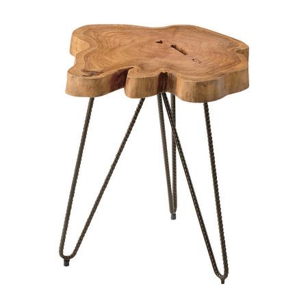 サイドテーブル 幅40cm ブラウン 木製 ミッドセンチュリー風 ローテーブル リビングテーブル コーヒーテーブル りびんぐてーぶる カフェテーブル