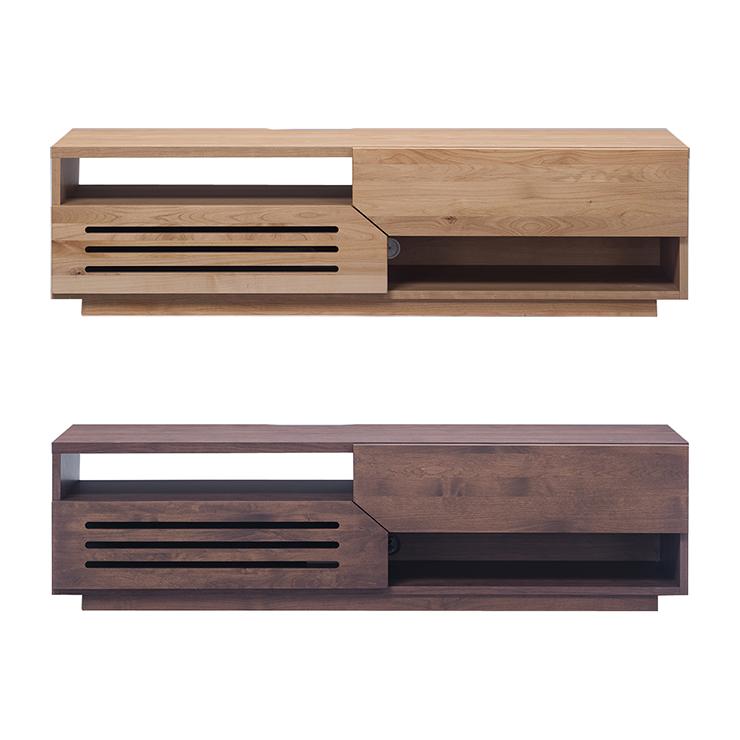 テレビ台 ローボード 完成品 幅150cm 木製 アルダー ナチュラル ブラウン 堀田木工所