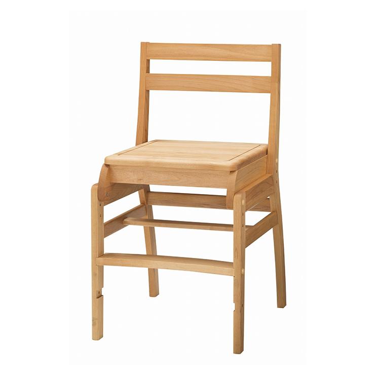 学習チェアー 椅子 いす デスクチェアー 勉強椅子 ナチュラル アルダー 国産品 日本製 堀田木工所 ダック No.6板座