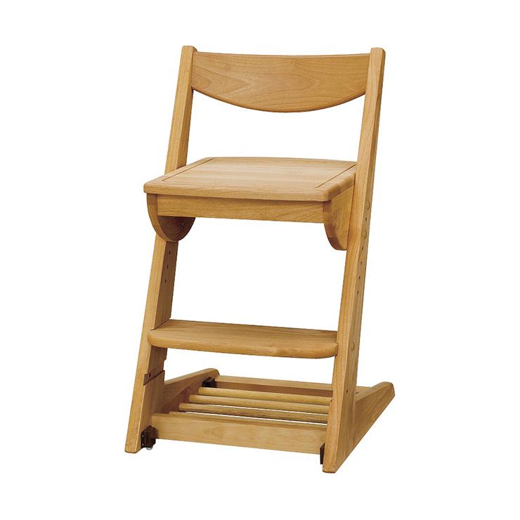 学習チェアー 椅子 いす デスクチェアー 勉強椅子 ナチュラル アルダー 国産品 日本製 堀田木工所 ダック No.2