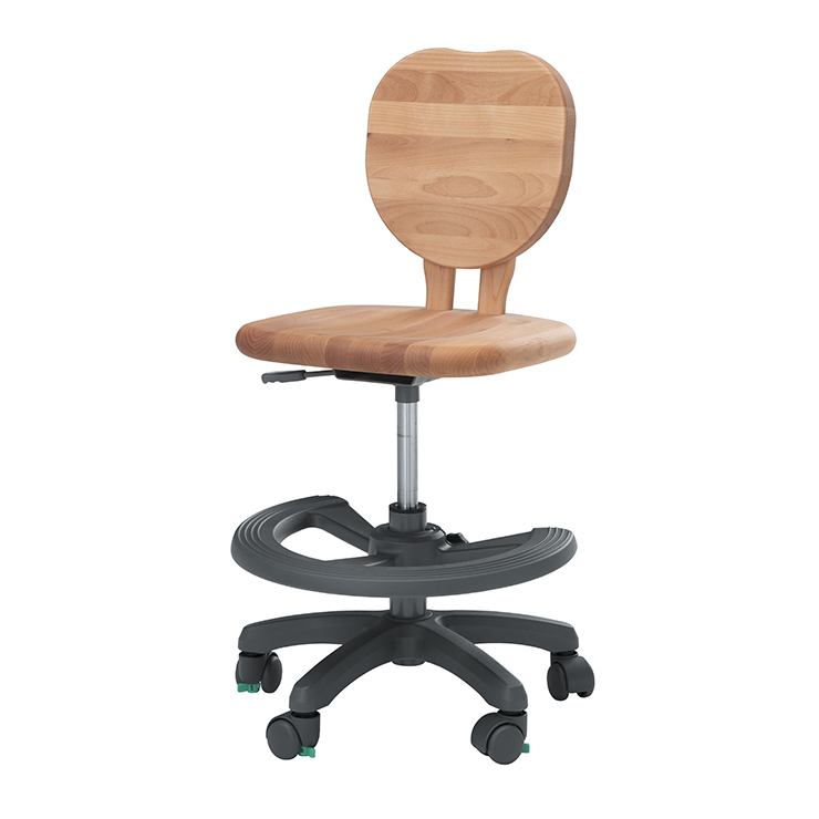 学習チェアー 椅子 いす デスクチェアー 勉強椅子 ナチュラル アルダー 国産品 日本製 堀田木工所 ダック アップルN