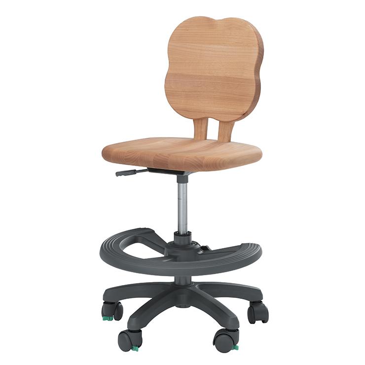 学習チェアー 椅子 いす デスクチェアー 勉強椅子 ナチュラル アルダー 国産品 日本製 堀田木工所 ダック リーフN